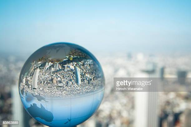 The globe on window side