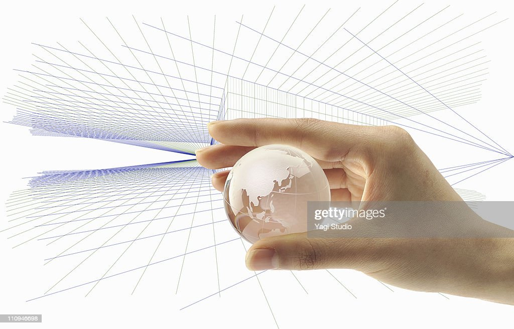 The globe seized in the hand : Stock Photo