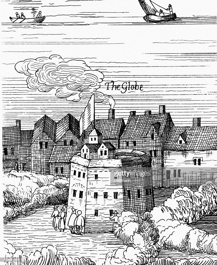 The Globe Theatre London Detail From Visschers Map Of 1616 BPA2 4219