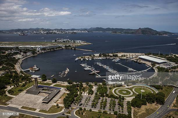 The Gloria marina stands in this aerial photograph taken above Rio de Janeiro Brazil on Saturday Feb 13 2016 With Brazil suffering its worst...