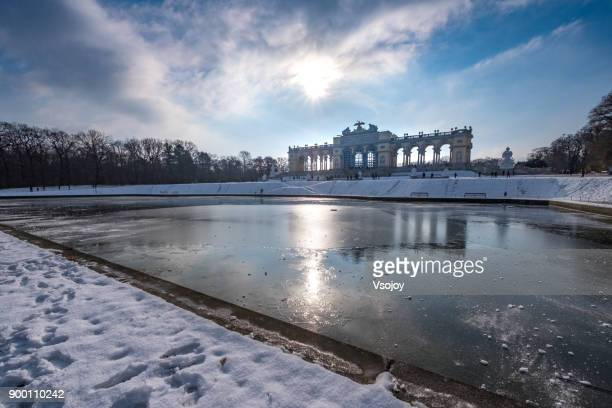 the gloriette, vienna, austria - vsojoy stock pictures, royalty-free photos & images