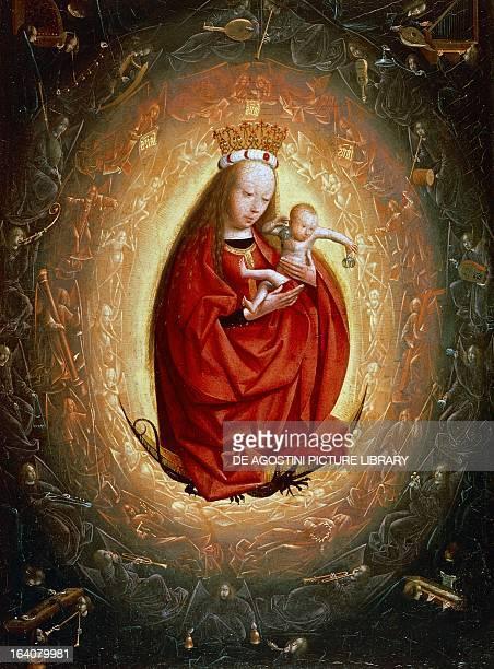 The Glorification of Mary by Geertgen tot Sint Jans oil on canvas oil on canvas 24x20 cm Rotterdam Museum Boijmans Van Beuningen