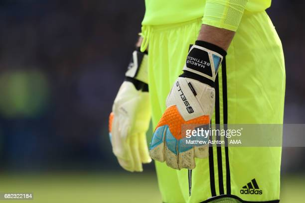 The gloves of goalkeeper of Marcus Bettinelli of Fulham during the Sky Bet Championship match between Sheffield Wednesday and Fulham at Hillsborough...