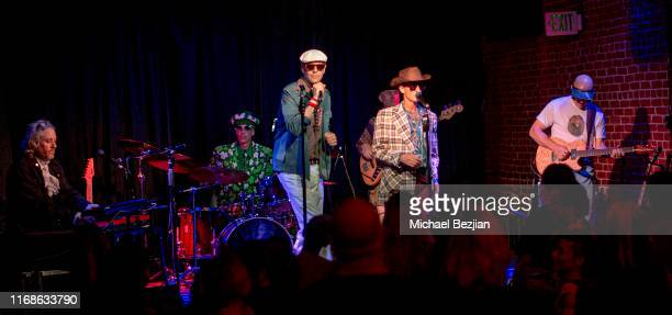 The Gluey Brothers and band at TAP The Artists Project Giveback Day on August 16 2019 in Los Angeles California