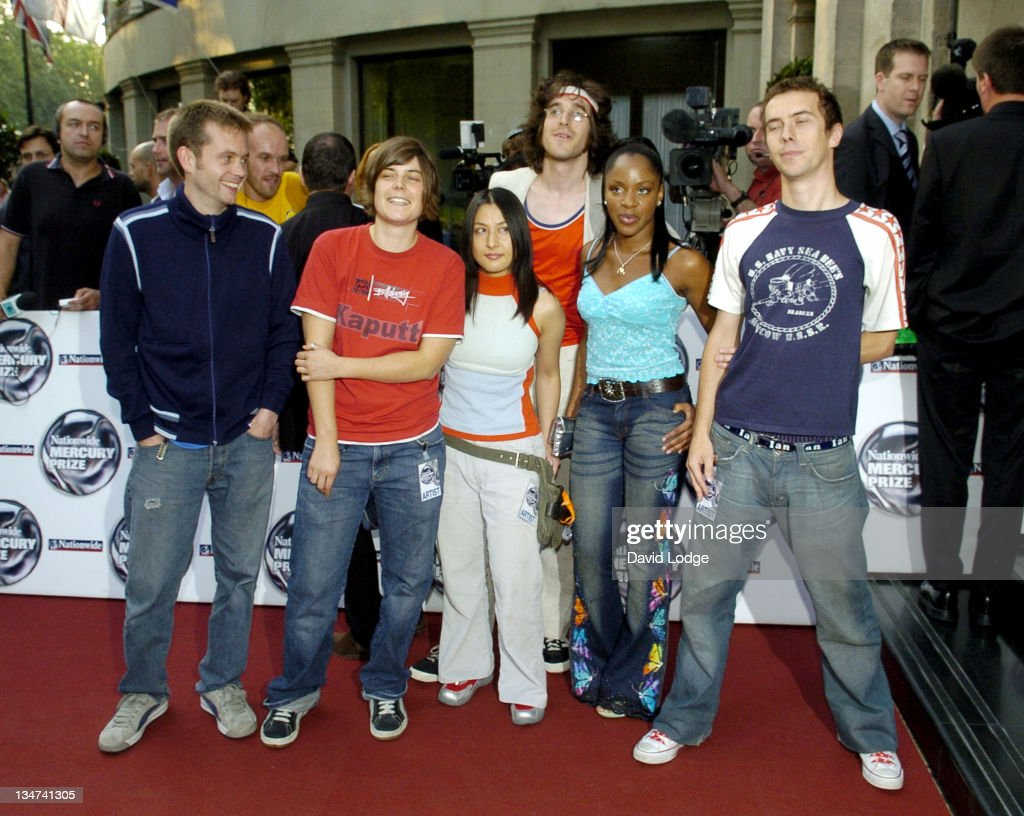 The Go! Team during 2005 Nationwide Mercury Music Prize at Grosvenor House in London, Great Britain.