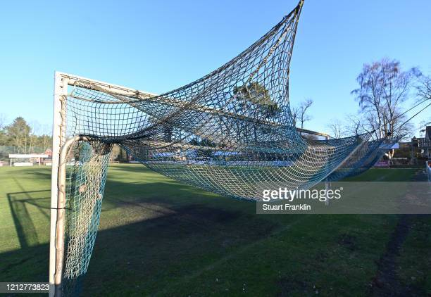The goal nets hang at the Siegfreied Koerner stadium home of lower league SV Eintracht Lüneburg.Everyday life in Germany has become fundamentally...