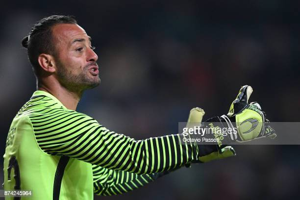 The goalkeeper Beto of Portugal in action during the International Friendly match between Portugal and USA at Estadio Municipal Leiria on November 14...