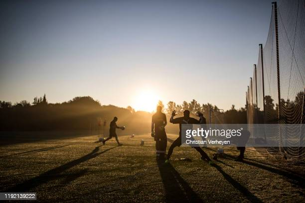 The goalkeeper of Borussia in action during the Borussia Moenchengladbach Training Camp on January 06 2019 in Jerez de la Frontera Germany