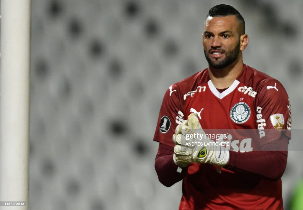 The Goalkeeper Of Brazil S Palmeiras Weverton Pereira Da Silva Is News Photo Getty Images