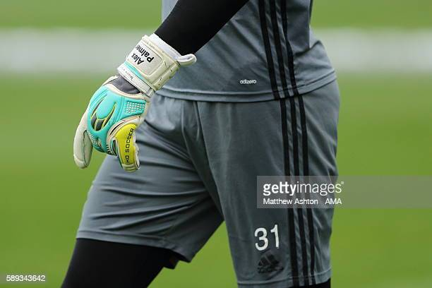 The Goalkeeping gloves of Alex Palmer of West Bromwich Albion during a training session at West Bromwich Albion Training Ground on August 11 2016 in...