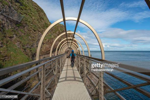 the gobbins - county antrim stock pictures, royalty-free photos & images