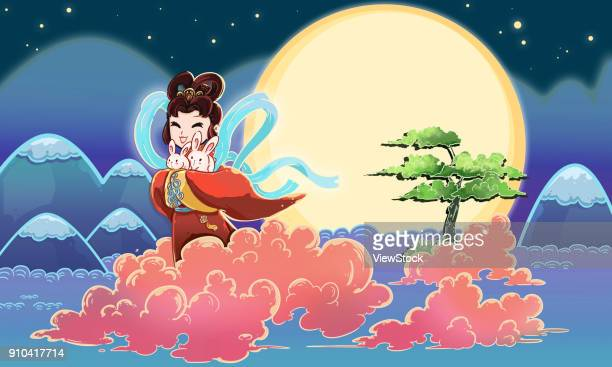 The Goddess Changs fly to the moon