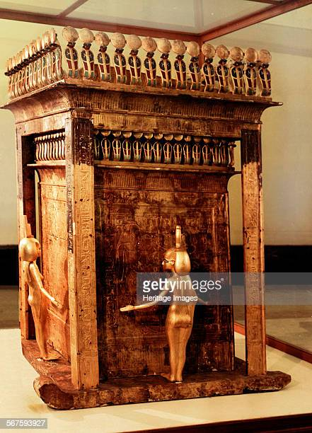 The goddess Serket one of the four goddesses who protected the dead guarding the canopic shrine of Tutankhamun Country of Origin Egypt Culture...