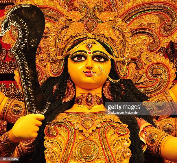 the goddness in all her splendour - durga stock photos and pictures