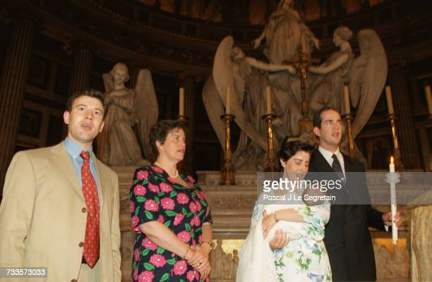 The Godfather the Godmother MarieLiesse baby Therese and Eudes of Orleans