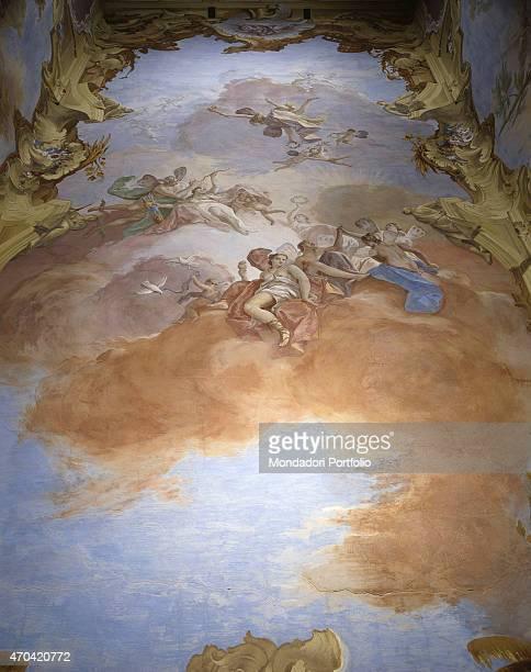 'The Gods of Olympus by Jacopo Guarana 17201808 18th19th Century fresco Italy Veneto Padua Valnogaredo near Cinto Euganeo Villa Contarini Rota Piva...