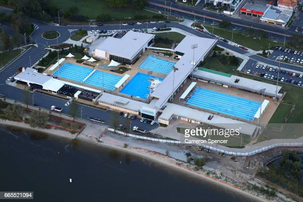 The Gold Coast Aquatic Centre venue for the 2018 Commonwealth Games swimming and diving on April 7 2017 in Gold Coast Australia The 2018 Commonwealth...