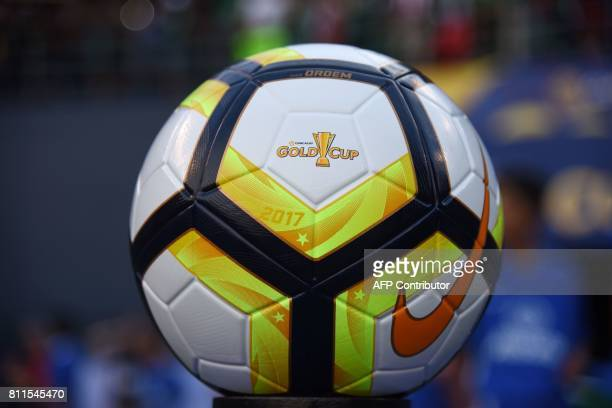 The Gold Cup game ball is seen before the start of the Mexico v El Salvador Group C match in the 2017 CONCACAF Gold Cup July 9 2017 at Qualcomm...