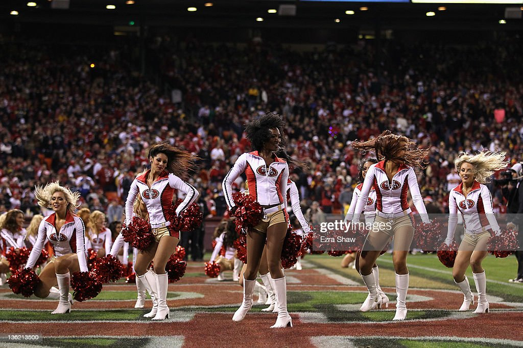 new arrival e85c2 dc6e0 The Gold Rush, the San Francisco 49ers cheerleaders perform ...