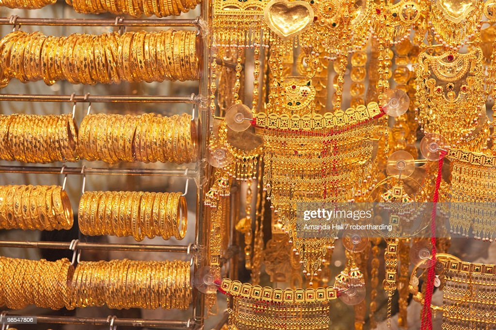 The Gold Souk Deira Dubai United Arab Emirates Middle East Stock