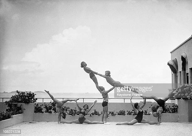 The Golden Ballet Makes Demonstrations On The Beach 19301935
