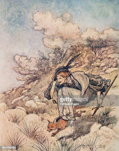 The Golden Bird 1909 Away they flew over stock and stone at such a pace that his hair whistled in the wind King Thrushbeard from The Fairy Tales of...