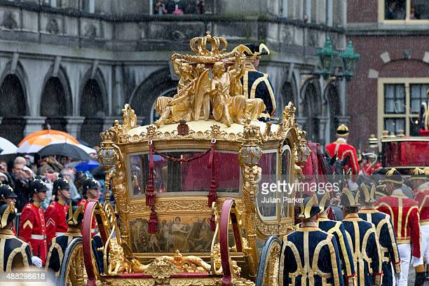 The Golden Carriage at The Binnenhof during Prinsjesdag on September 15 2015 in The Hague Netherlands