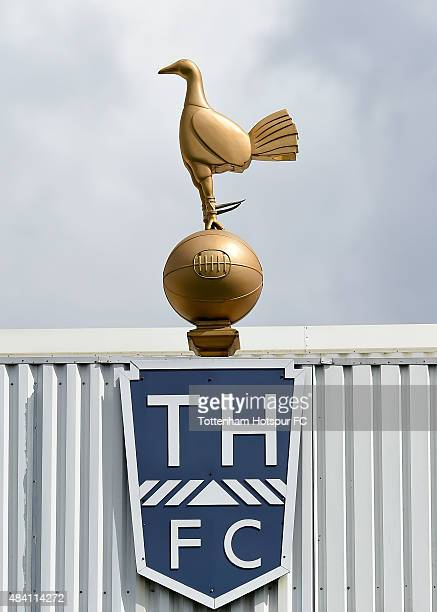 The golden Cockerel is pictured during the Barclays Premier League match between Tottenham Hotspur and Stoke City at White Hart Lane on August 15...