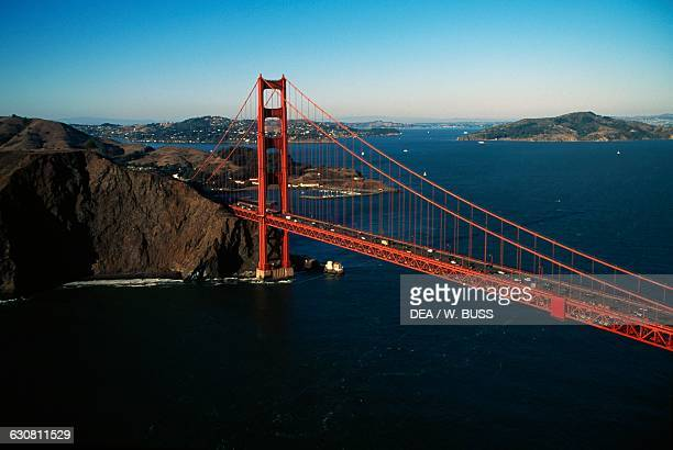 The Golden Gate Bridge 19331937 architect Joseph Baermann Strauss and the bay of San Francisco California United States of America
