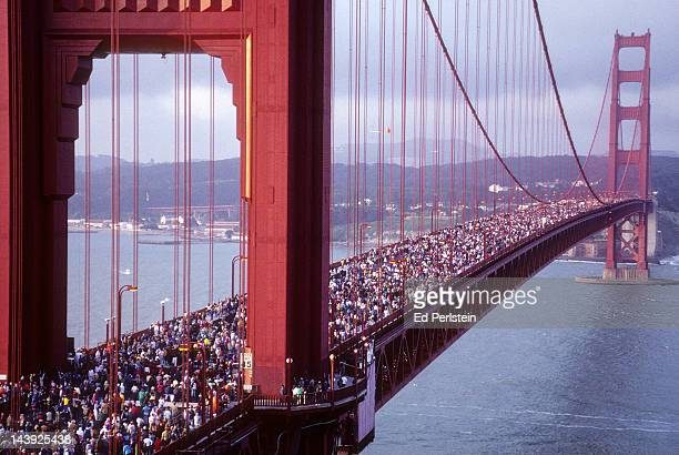 The Golden Gate Bridge 50th Anniversary Bridge Walk in May 1987.