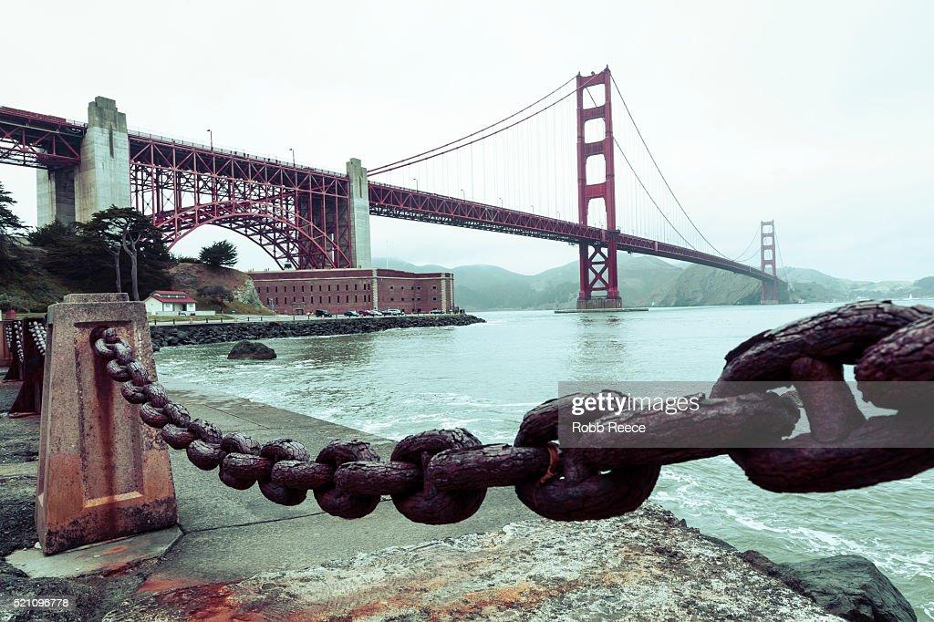 The Golden Gate Bridge and San Francisco Bay, California : Stock Photo