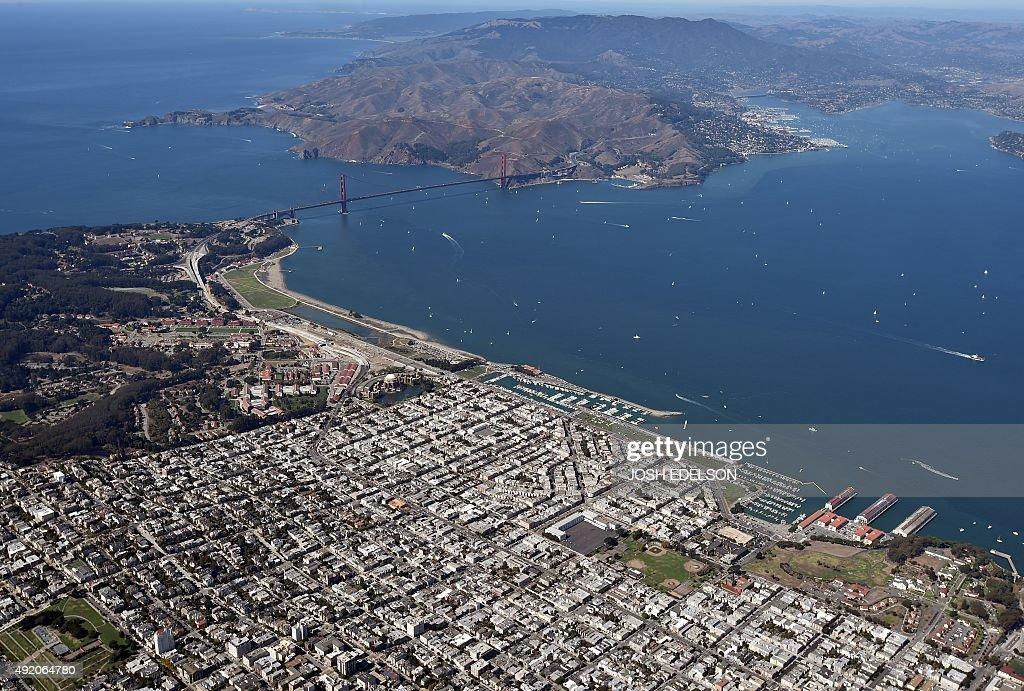 US-AERIAL-SAN FRANCISCO : News Photo