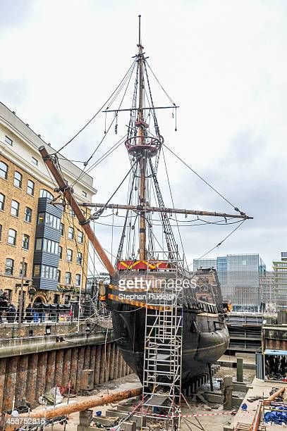 CONTENT] The Golden Hinde in the drydock Docked in St Mary Overie Dock