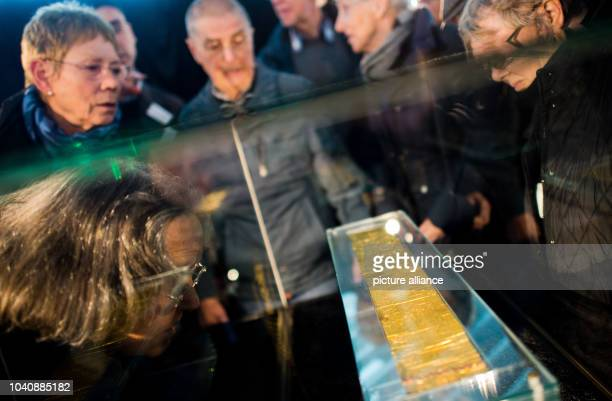 The golden letter from the King of Burma to King George II can be seen in the Gottfried Wilhelm Leibniz Library in Hanover, Germany, 29 October 2015....