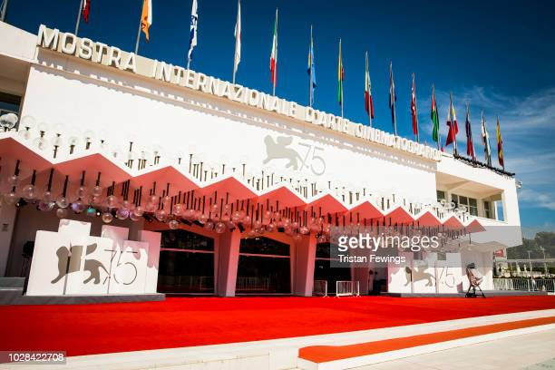 The Golden Lion and 75 is displayed at the red carpet of Sala Grande of Palazzo del Cinema as JaegerLeCoultre sponsers the 75th Venice Film Festival...