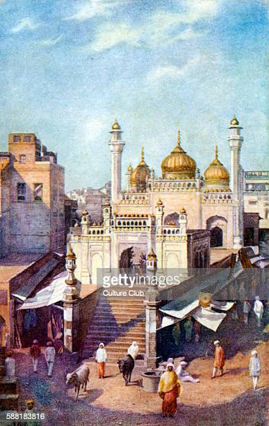 The Golden Mosque in Lahore early 20th century India / Pakistan / Indian Empire Built in 1753 by Nawab Syed Bhikari Khan