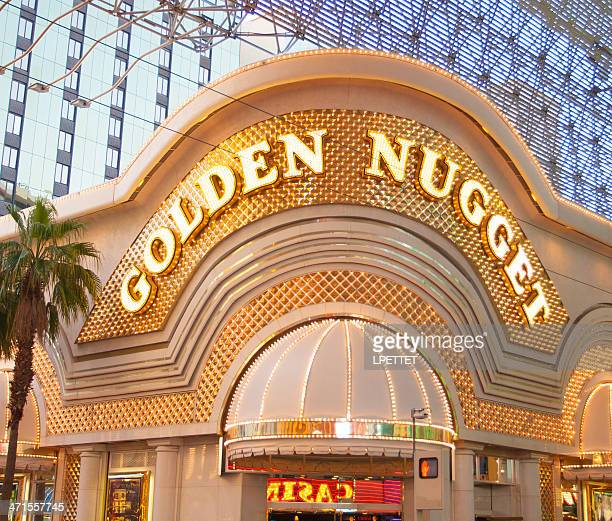 the golden nugget casino - fremont street las vegas stock pictures, royalty-free photos & images