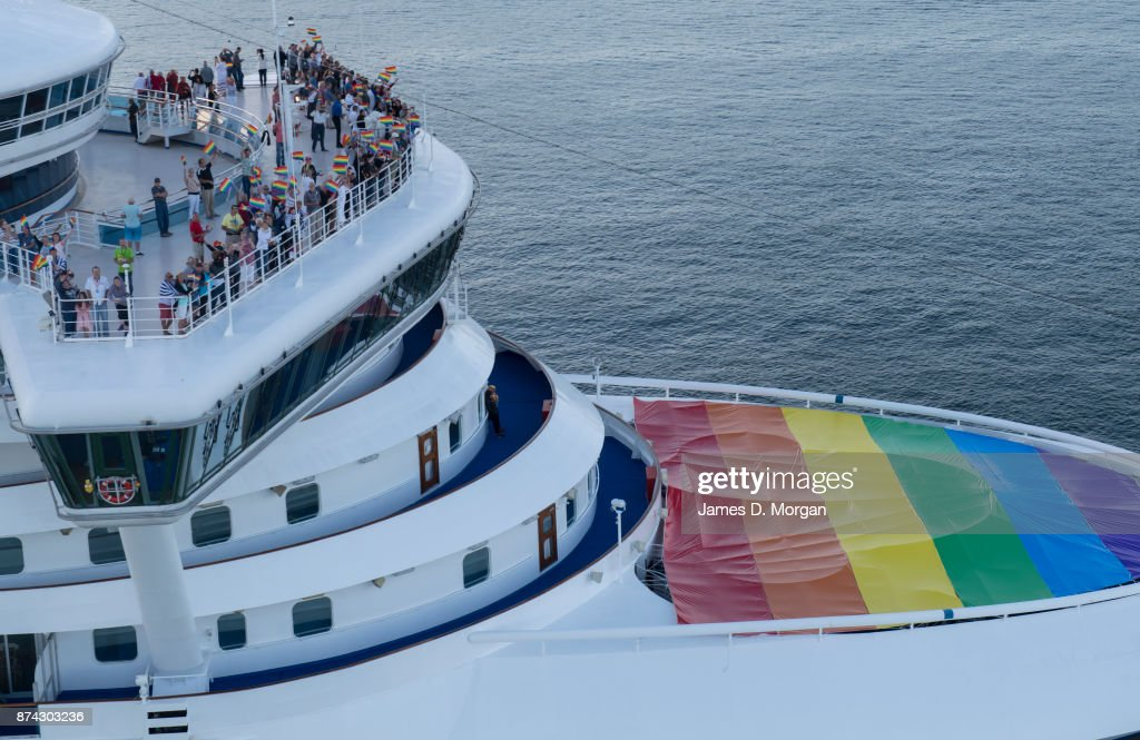 The Golden Princess arrives in Sydney Harbour flying the rainbow flag in support of marriage equality on November 15, 2017 in Sydney, Australia. Australians will find out the result of the recent Marriage Law Postal Survey today, which asked all Australians whether the law should be changed to allow same-sex marriage.