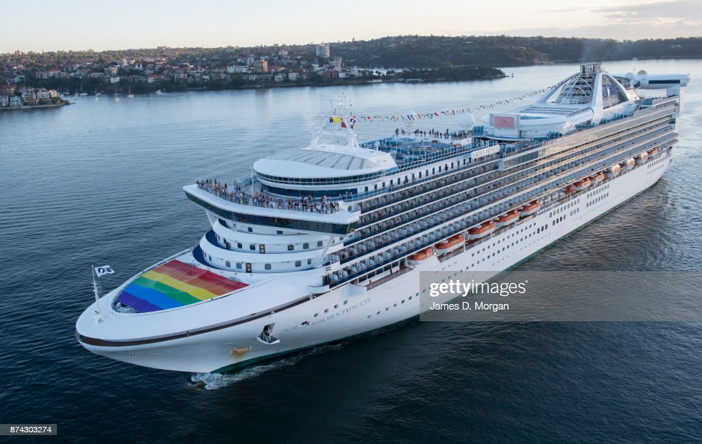 Cruise Ship Flies Rainbow Flag In Support Of Marriage Equality - Flying cruise ship
