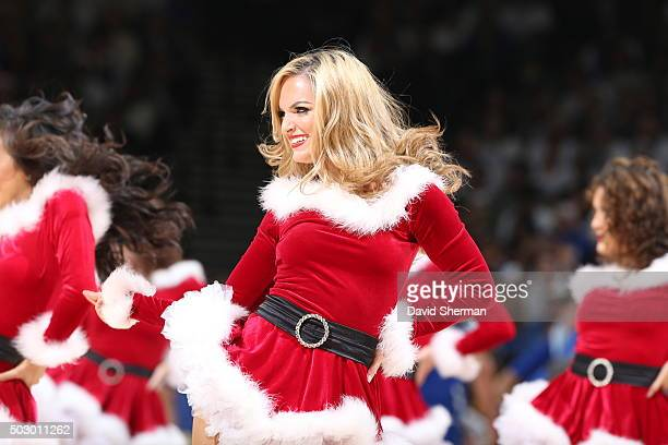 The Golden State Warriors dance team performs during the game against the Cleveland Cavaliers on December 25 2015 at ORACLE Arena in...