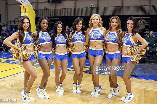 low priced 14120 ea310 The Golden State Warriors Dance Team pose for a photo after the Santa Cruz  Warriors and