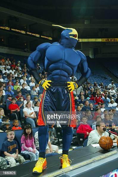 The Golden State Warriors mascot, Thunder, entertains the ...