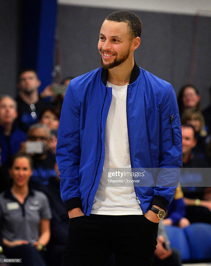 The Golden State Warriors  Stephen Curry is all smiles during a ... 6251594d3