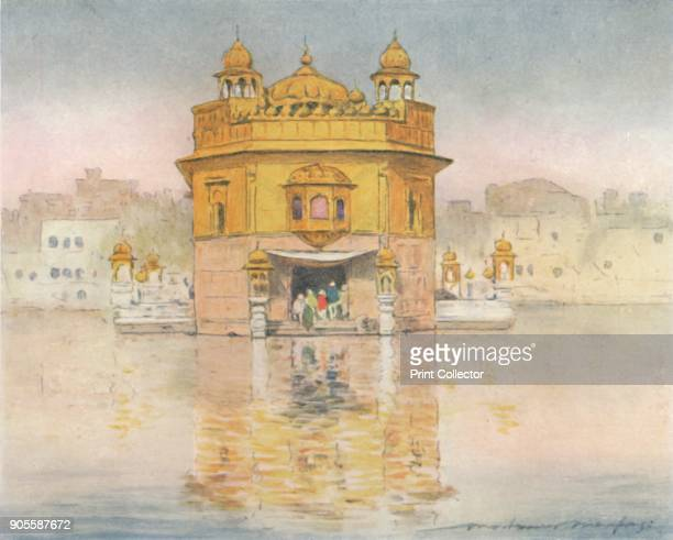 'The Golden Temple Amritsar' 1905 From India by Mortimer Menpes Text by Flora A Steel [Adam Charles Black London 1905] Artist Mortimer Luddington...