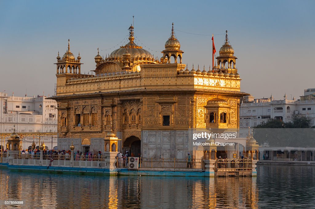 The Golden Temple, Amritsar, India at Sunrise : Stock Photo