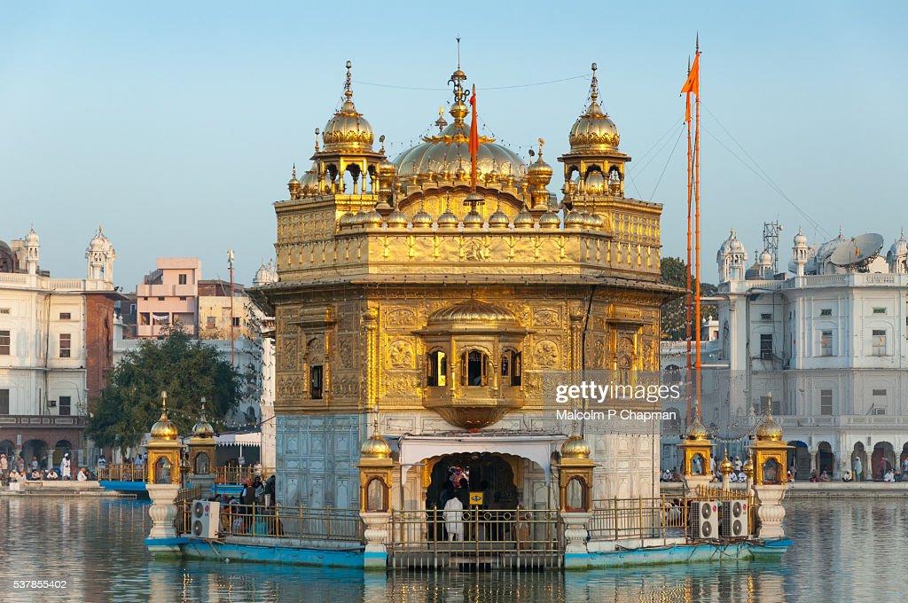 The Golden Temple, Amritsar, India at Sunrise : Stock Photo