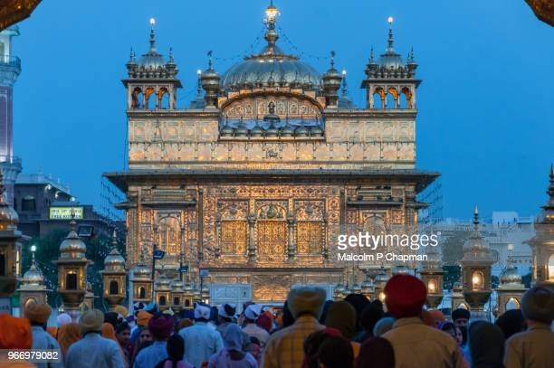 the golden temple, amritsar, india - amritsar stock pictures, royalty-free photos & images