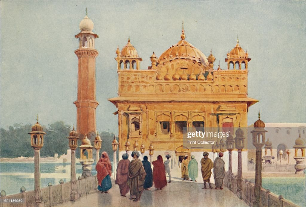 The Golden Temple Amritzar` c1880 From The HighRoad of Empire by A H Hallam Murray [John Murray Ablemarle Street London 1905] Artist Alexander Henry..