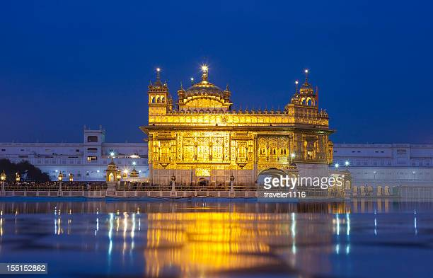 the golden temple in amritsar, india - amritsar stock pictures, royalty-free photos & images