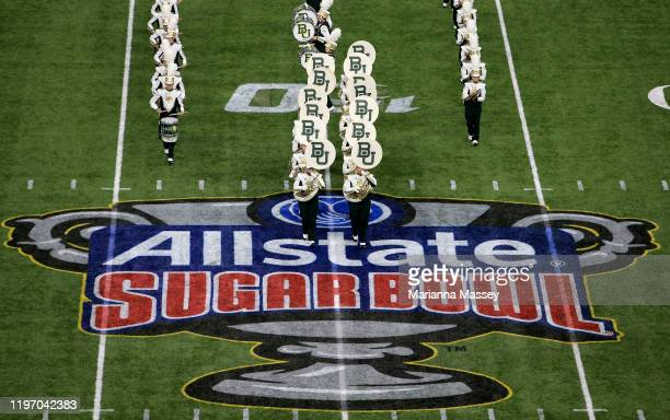 The Golden Wave Band play during the Allstate Sugar Bowl at Mercedes Benz Superdome on January 01 2020 in New Orleans Louisiana